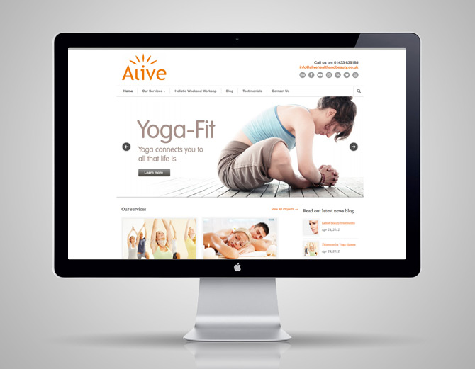 Health and beauty salon website