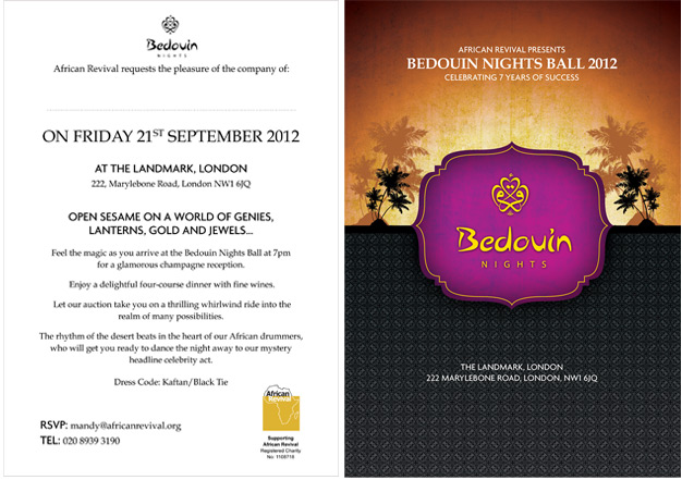 Flyer / Invitation Design for Bedouin Nights